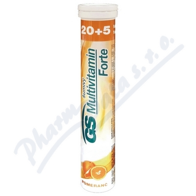 GS Multivitamin šumivý Forte pomeranč tbl.20+5