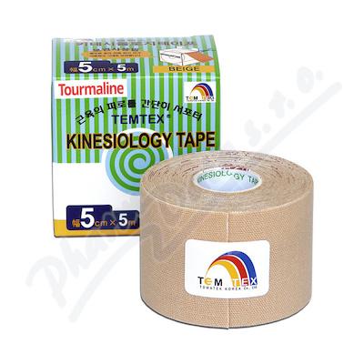 Tejp. TEMTEX kinesio tape Tourmaline béžová 5cmx5m