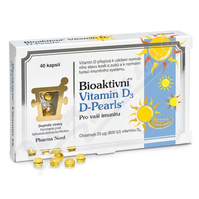 Bioaktivní Vitamin D3 D Pearls cps.40