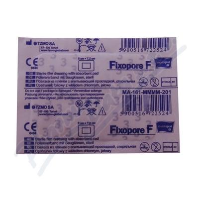 Fixopore F sterilní náplast 5x7.2cm 1ks
