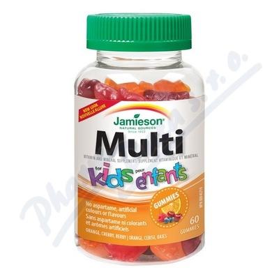 JAMIESON Multi Kids Gummies želatin.pastilky 60ks