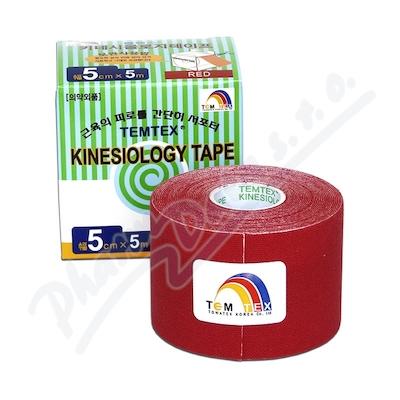 Tejp. TEMTEX kinesio tape červená 5cmx5m