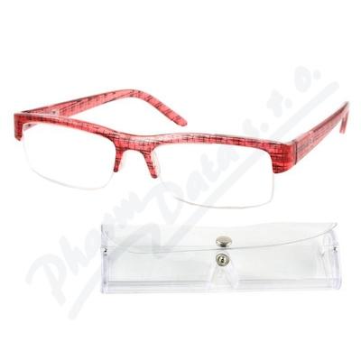 Brýle čtecí +2.50 červeno-černé s pouzdrem