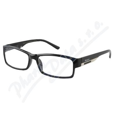 Brýle čtecí +1.00 FLEX černé s kov.doplňkem