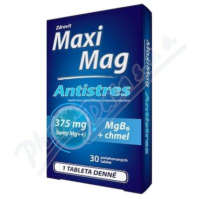 MaxiMag Antistres 375mg Mg+B6+chmel 30 tablet
