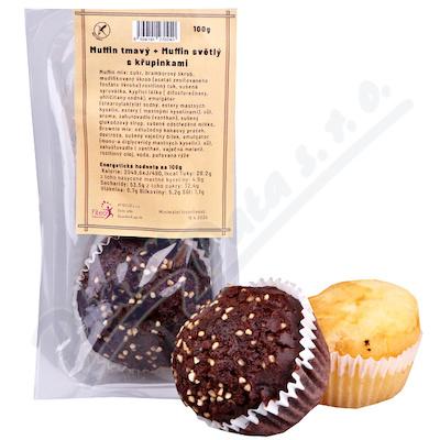 Bezlepkový muffin světlý a tmavý s křup. 2ks(100g)