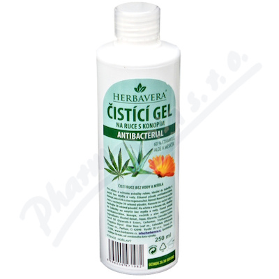 Čistící gel antibacterial HERBAVERA 250ml