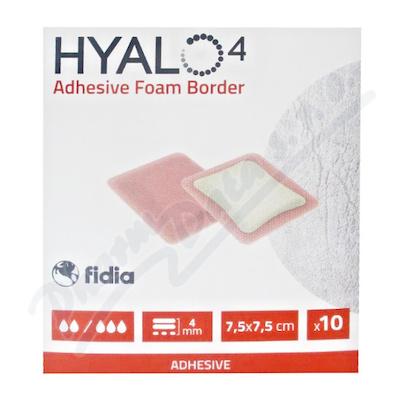 Hyalo4 Silic.Adhes.Border Foam Dres.7.5x7.5cm 10ks