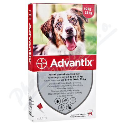 Advantix pro psy 10-25kg spot-on 4x2.5ml