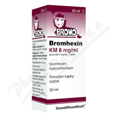 Bromhexin KM 8mg/ml por.gtt.sol.1x20ml