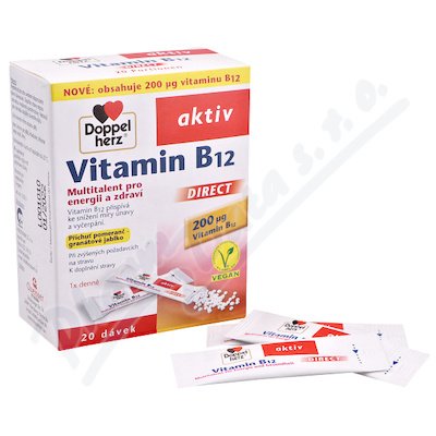 Vitamin B12 Direct 20 sáčků Doppel Herz
