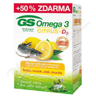 GS Omega 3 Citrus+D3 cps.60+30 ČR/SK