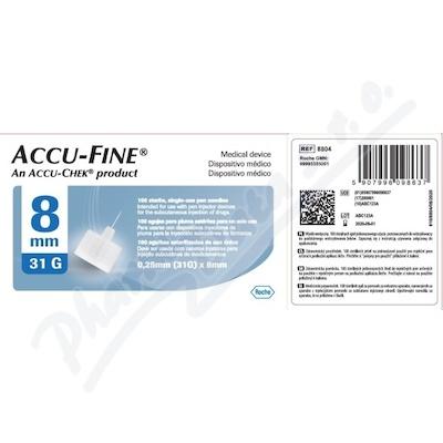 Accu-Fine jehly do inzulínového pera 31Gx8mm 100ks