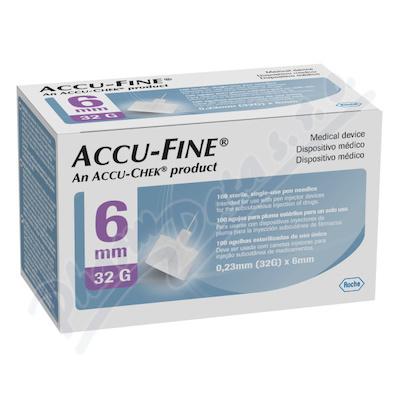 Accu-Fine jehly do inzulínového pera 32Gx6mm 100ks