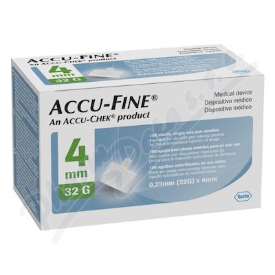 Accu-Fine jehly do inzulínového pera 32Gx4mm 100ks