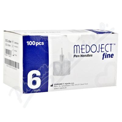 MEDOJECT fine jehly do inzulin.per 31Gx6mm 100ks