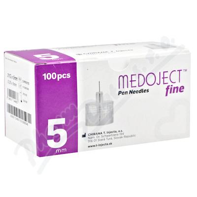 MEDOJECT fine jehly do inzulin.per 31Gx5mm 100ks