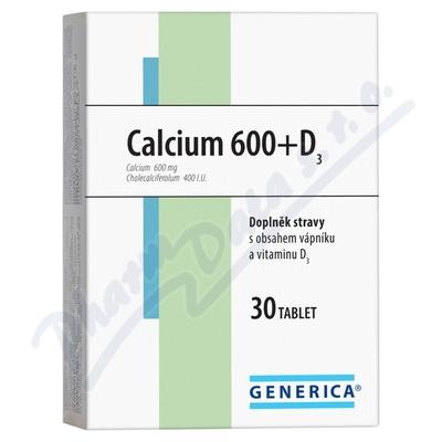 Calcium 600+D3 Generica tbl.30