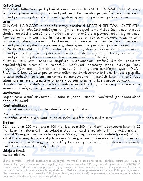Clinical Hair-Care tob.90+argan.olej20ml 3měs.kúra