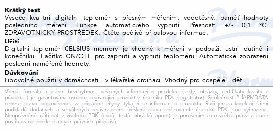 Teploměr Digital CELSIUS memory