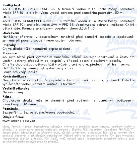 LA ROCHE-POSAY ANTHELIOS Derm.ped. BEBE50+ 50ml