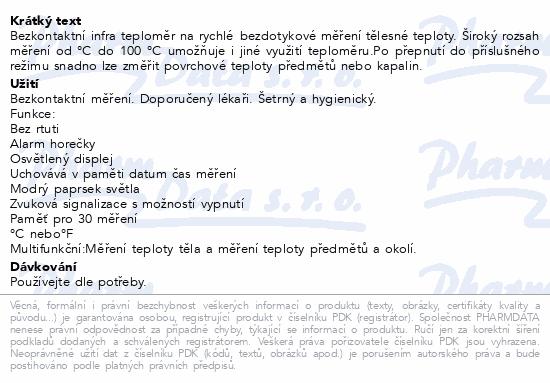 Microlife Teploměr NC 150 digit.čelní bezkontaktní