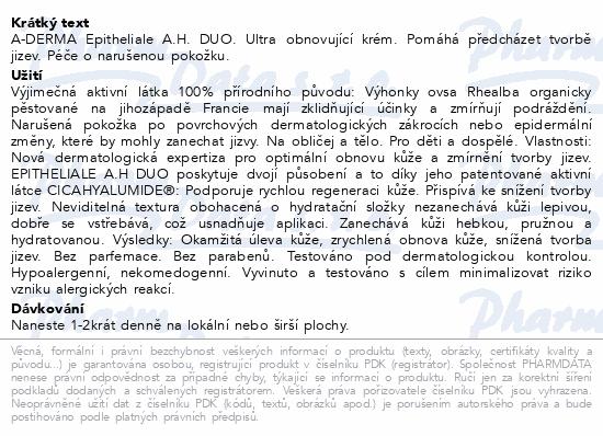 A-DERMA Epitheliale A.H. Duo Ultra-obnov.krém 40ml