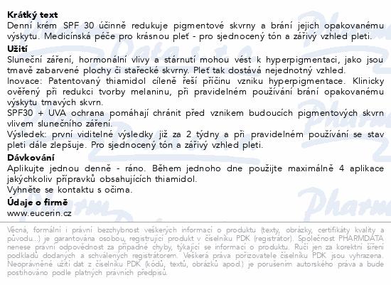 EUCERIN AntiPigment denní krém SPF 30 50ml