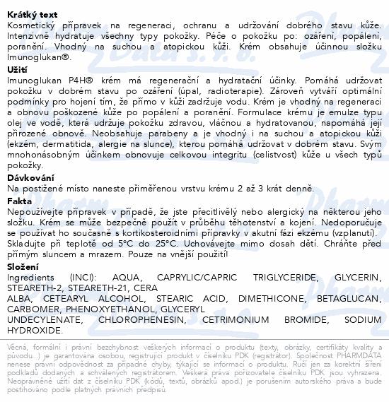 Imunoglukan P4H krém 30g