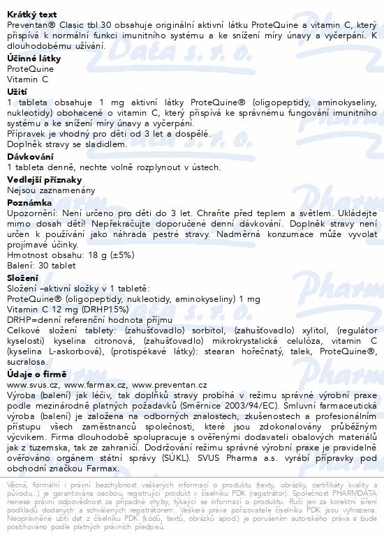 Preventan Clasic tbl.30