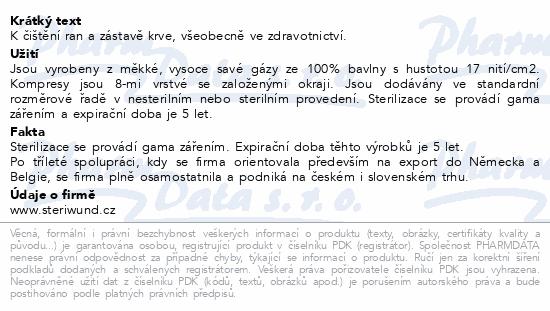 Gáza hydr.kompr.ster.7.5x7.5cm/2ks Steriwund